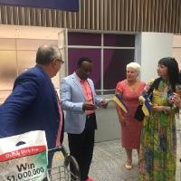 Встреча пастора Сандея в аэропорту Рио де Жанейро